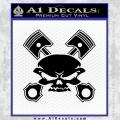 Skull And Pistons Decal Sticker Black JDM Vinyl 120x120