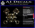 Skull And Pistons Decal Sticker JDM 3DC Vinyl 120x97