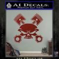 Skull And Pistons Decal Sticker JDM DRD Vinyl 120x120
