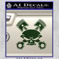 Skull And Pistons Decal Sticker JDM Dark Green Vinyl 120x120