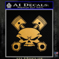 Skull And Pistons Decal Sticker JDM Gold Metallic Vinyl 120x120