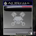 Skull And Pistons Decal Sticker JDM Grey Vinyl 120x120