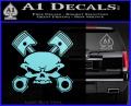 Skull And Pistons Decal Sticker JDM Light Blue Vinyl 120x97