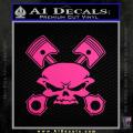 Skull And Pistons Decal Sticker JDM Neon Pink Vinyl 120x120