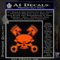 Skull And Pistons Decal Sticker JDM Orange Emblem 120x120