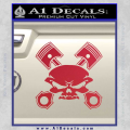 Skull And Pistons Decal Sticker JDM Red Vinyl 120x120