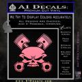 Skull And Pistons Decal Sticker JDM Soft Pink Emblem 120x120