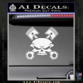 Skull And Pistons Decal Sticker JDM White Vinyl 120x120
