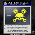 Skull And Pistons Decal Sticker JDM Yellow Vinyl 120x120