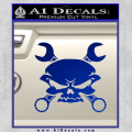 Skull And Wrenches Decal Sticker Blue Vinyl 120x120