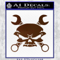 Skull And Wrenches Decal Sticker Brown Vinyl 120x120