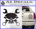 Skull And Wrenches Decal Sticker CFB Vinyl 120x97