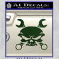 Skull And Wrenches Decal Sticker Dark Green Vinyl 120x120