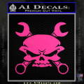 Skull And Wrenches Decal Sticker Neon Pink Vinyl 120x120