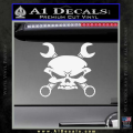 Skull And Wrenches Decal Sticker White Vinyl 120x120