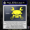 Skull And Wrenches Decal Sticker Yellow Vinyl 120x120