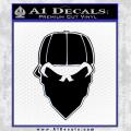 So Cal Bandanna Decal Sticker Black Vinyl 120x120