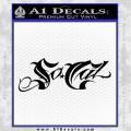 So Cal Script Decal Sticker Black Vinyl 120x120