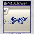 So Cal Script Decal Sticker Blue Vinyl 120x120