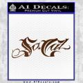 So Cal Script Decal Sticker Brown Vinyl 120x120
