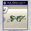 So Cal Script Decal Sticker Dark Green Vinyl 120x120