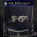 So Cal Script Decal Sticker Metallic Silver Vinyl 120x120