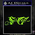 So Cal Script Decal Sticker Neon Green Vinyl 120x120