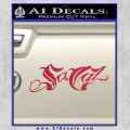 So Cal Script Decal Sticker Red Vinyl 120x120