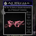 So Cal Script Decal Sticker Soft Pink Emblem 120x120