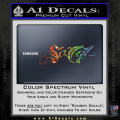 So Cal Script Decal Sticker Spectrum Vinyl 120x120