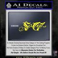 So Cal Script Decal Sticker Yellow Vinyl 120x120