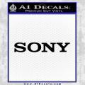 Sony Decal Sticker Black Vinyl 120x120