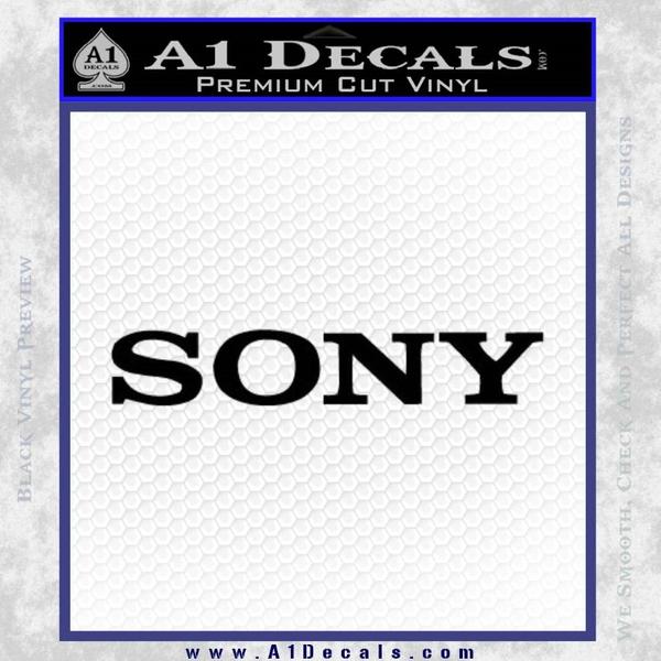 Sony Decal Sticker Black Vinyl