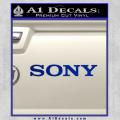 Sony Decal Sticker Blue Vinyl 120x120