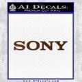 Sony Decal Sticker Brown Vinyl 120x120