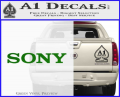 Sony Decal Sticker Green Vinyl 120x97