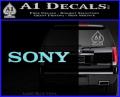 Sony Decal Sticker Light Blue Vinyl 120x97