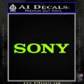 Sony Decal Sticker Neon Green Vinyl 120x120