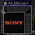 Sony Decal Sticker Orange Emblem 120x120