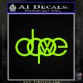VW Dope D1 Decal Sticker Lime Green Vinyl 120x120