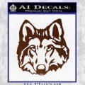 Wolf Head Decal Sticker DF BROWN Vinyl 120x120