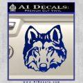 Wolf Head Decal Sticker DF Blue Vinyl 120x120
