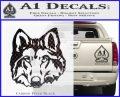 Wolf Head Decal Sticker DF Carbon FIber Black Vinyl 120x97