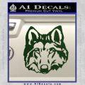 Wolf Head Decal Sticker DF Dark Green Vinyl 120x120