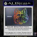 Wolf Head Decal Sticker DF Glitter Sparkle 120x120