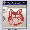 Wolf Head Decal Sticker DF Red 120x120