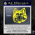 Wolf Head Decal Sticker DF Yellow Laptop 120x120