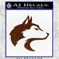 Wolf Head Decal Sticker Smooth BROWN Vinyl 120x120