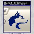 Wolf Head Decal Sticker Smooth Blue Vinyl 120x120