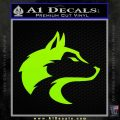 Wolf Head Decal Sticker Smooth Lime Green Vinyl 120x120